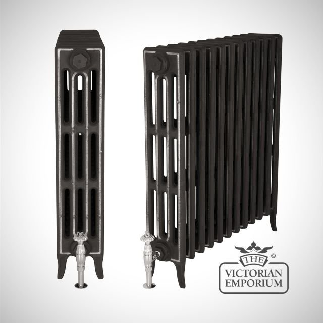 Late Victorian radiator 4 columns - 660mm high