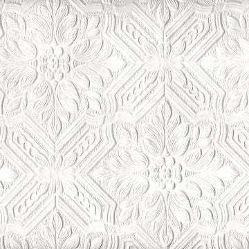Anaglypta wallpaper with flower and leaf trellis design - Style VE648
