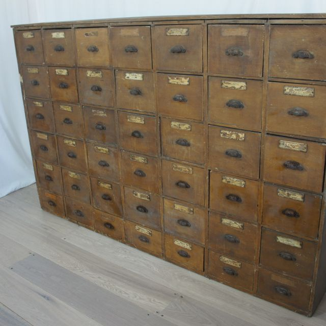 Vintage French Spice Mixers Drawers