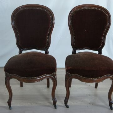 Pair Walnut 19th Century Chairs