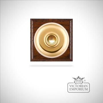 Victorian Brass Bell Push