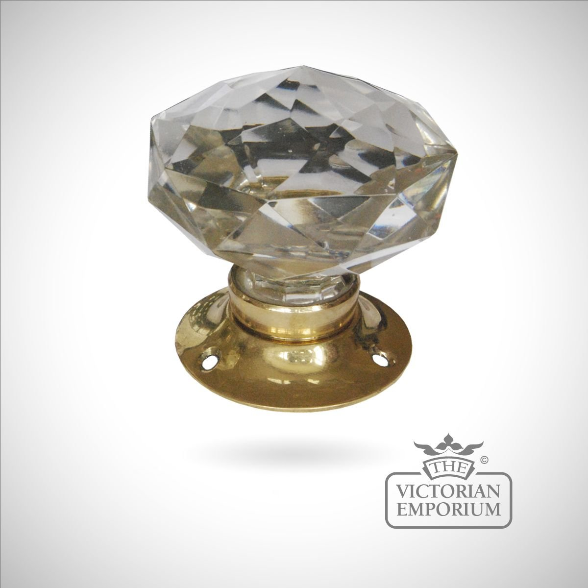 Cut Crystal Turning Handle Knobs The Victorian Emporium