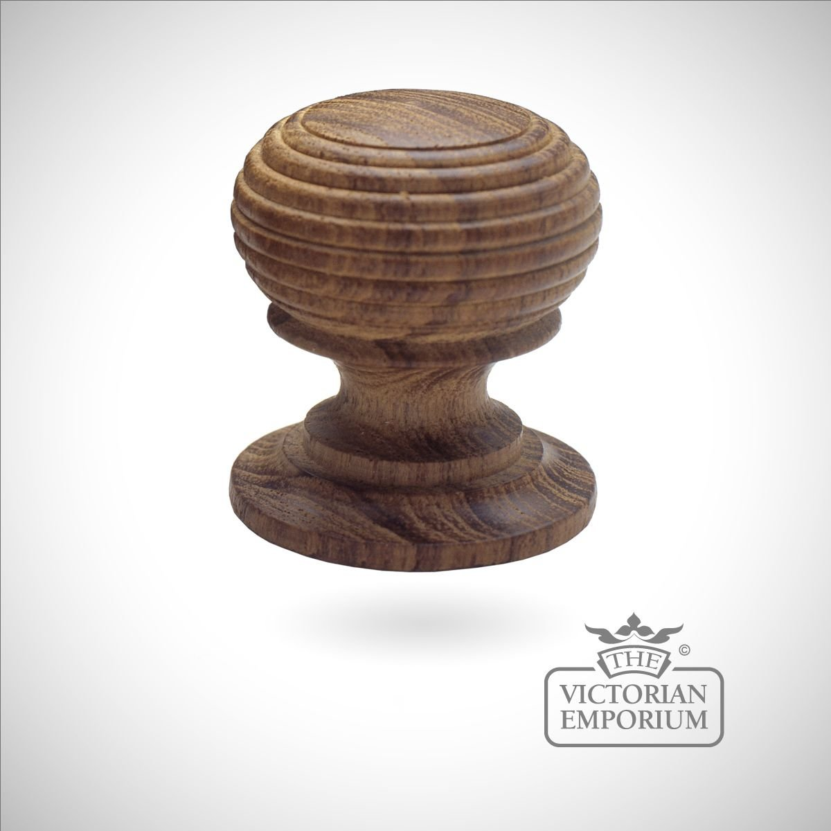 Large wooden cabinet knob beehive knobs
