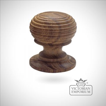 Large wooden cabinet knob - Beehive