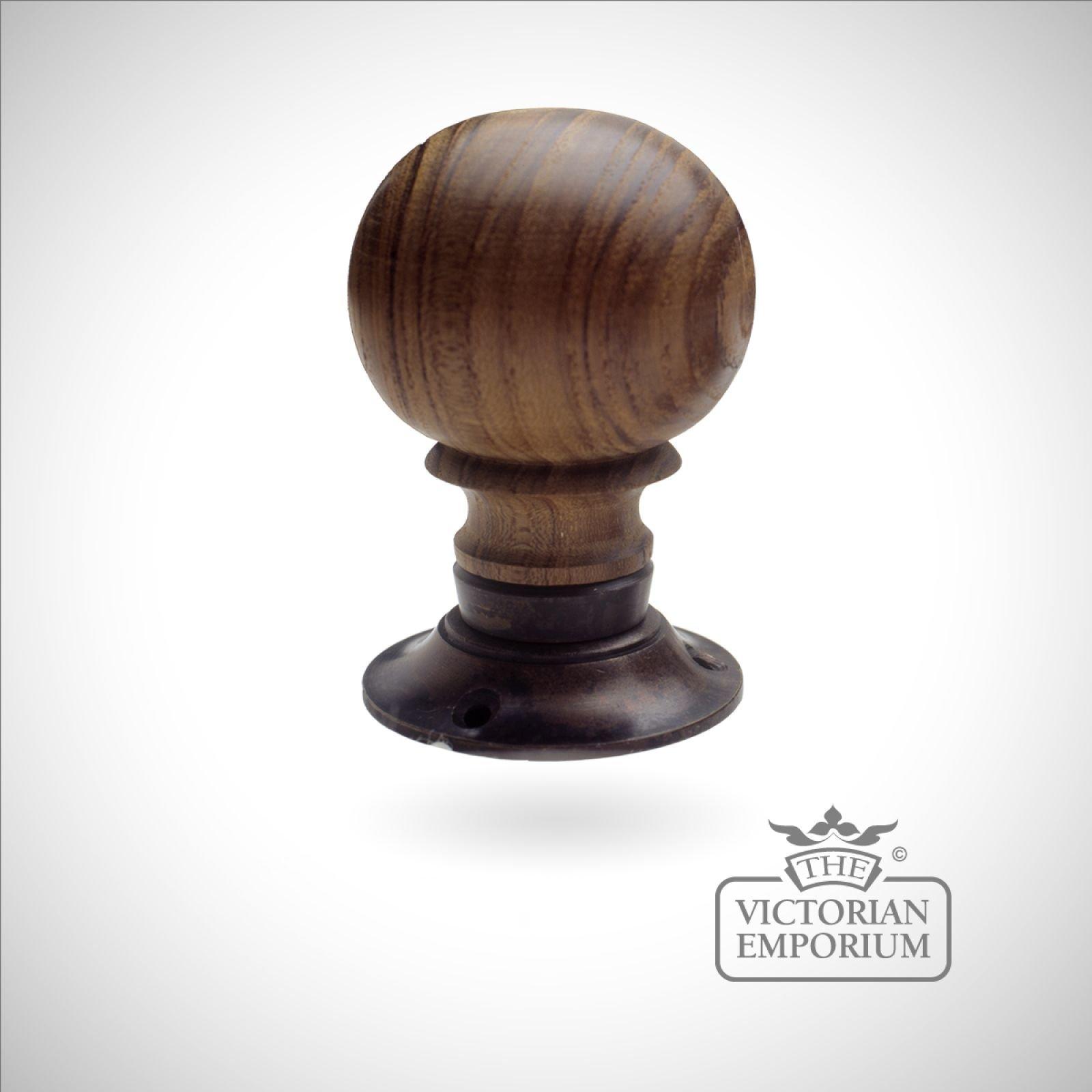 Wooden Turning Handle Plain Door Knobs And Door Handles