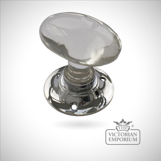 Oval Glass Turning Handle