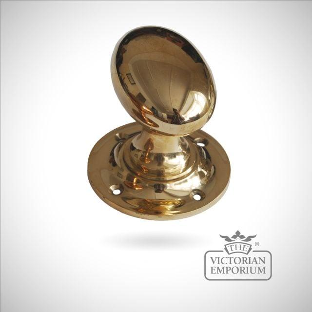 Copper Brass Oval Turning Door Handle