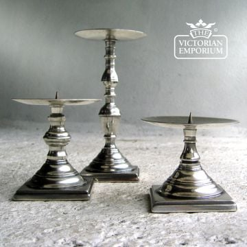 Solid brass silver plated candlesticks - choice of 3 sizes