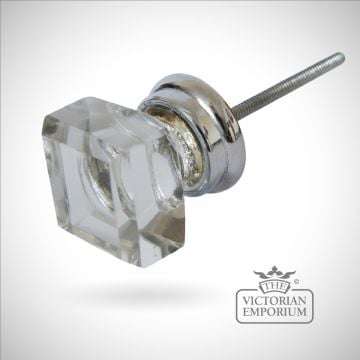 Crystal square handle