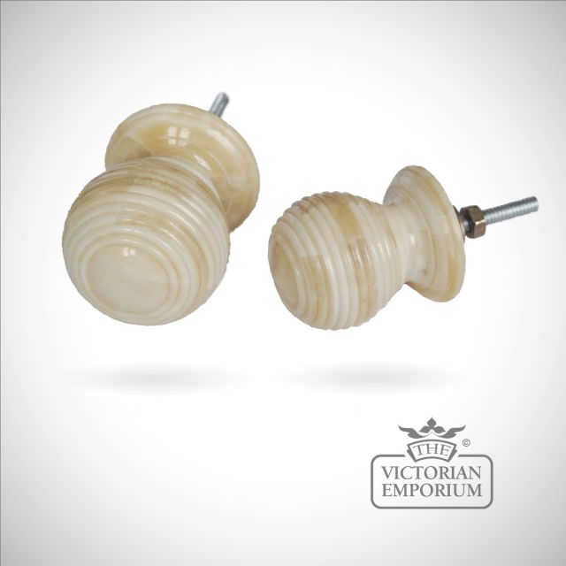 Porcelain beehive bone cupboard pull