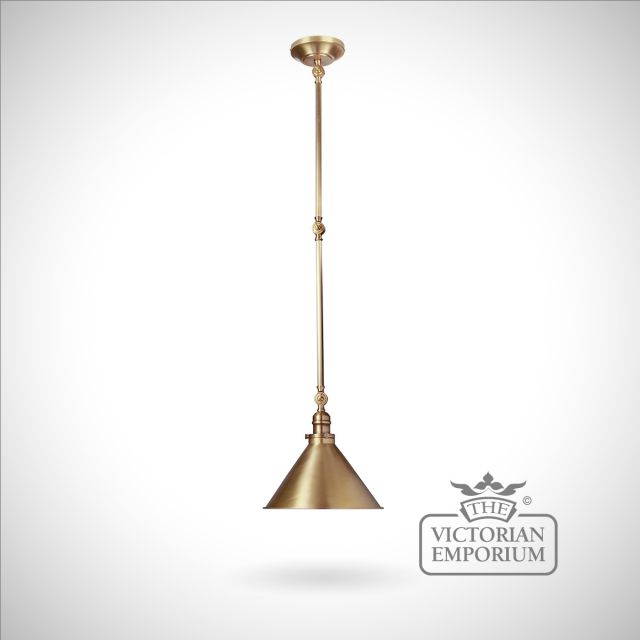 Provence large wall light/pendant light in Aged Brass