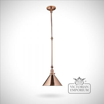 Provence large wall light/pendant light in Polished Copper