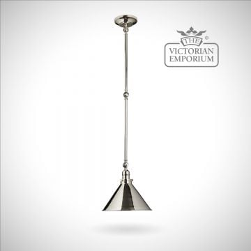 Provence large wall light/pendant light in Polished Nickel