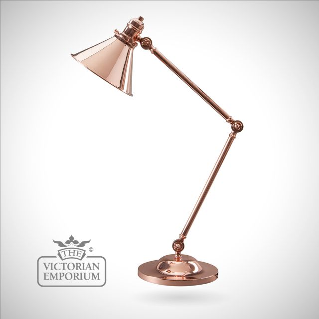 Provence table lamp in Polished Copper