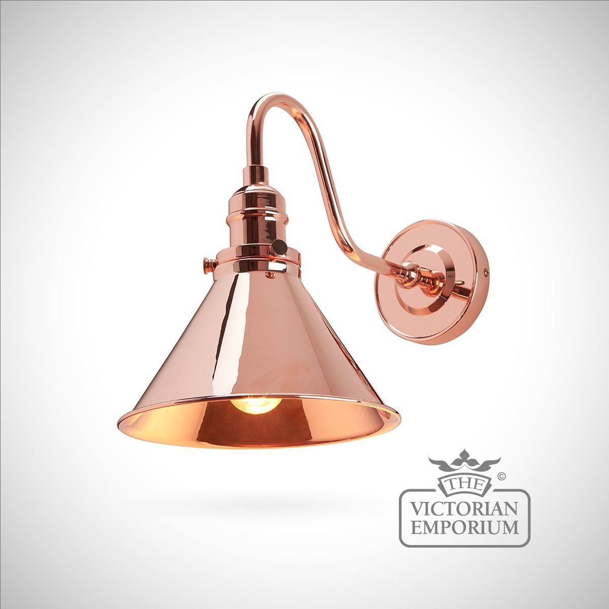 Provence Wall Light In Polished Copper