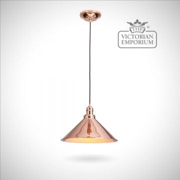 Provence pendant light in Polished Copper