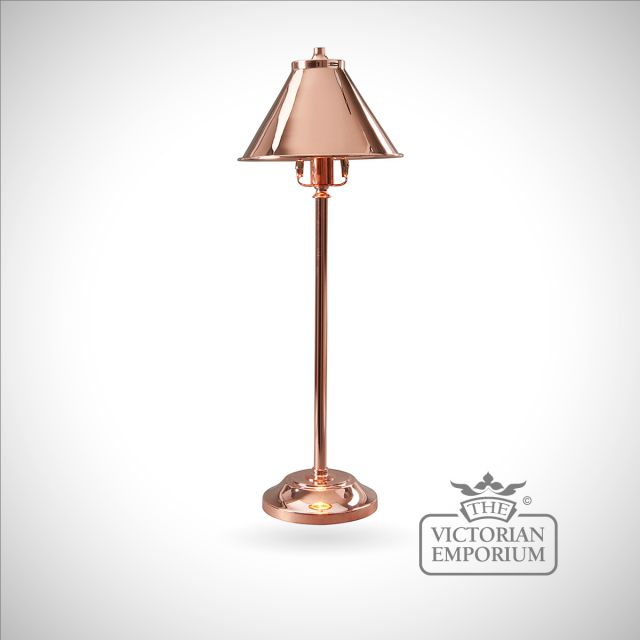 Provence stick lamp in Polished Copper