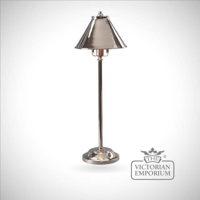 Provence stick lamp in Polished Nickel