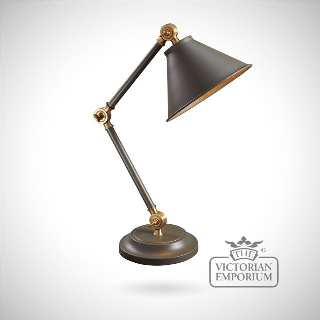 Provence small table lamp in Dark Grey/Aged Brass