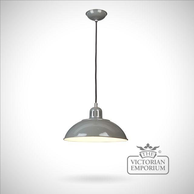 Franklin Diner Pendant in Grey