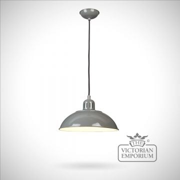 Franklin Diner Pendant in Grey