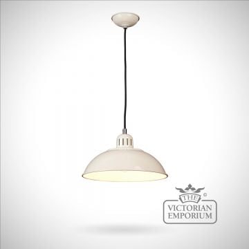Franklin Diner Pendant in Cream