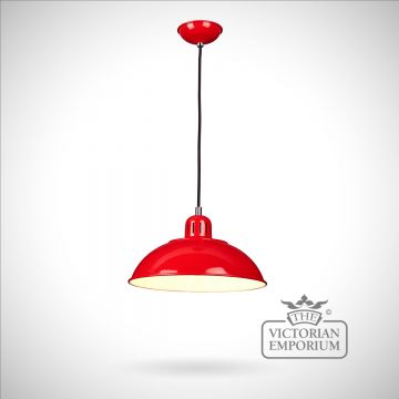 Franklin Diner Pendant in Red