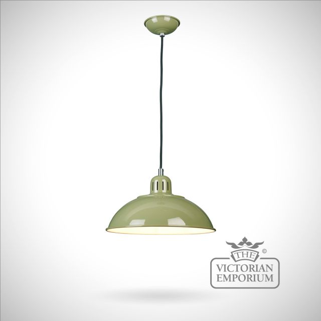 Franklin Diner Pendant in Green