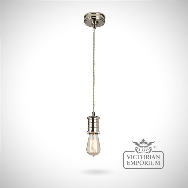 Douillet lamp holder in Polished Nickel
