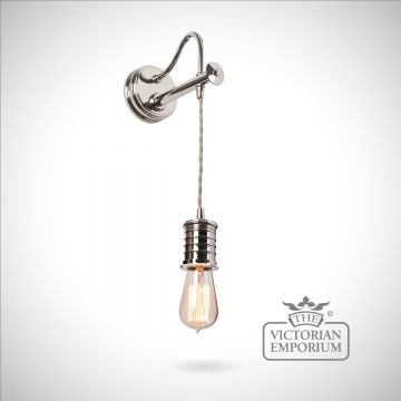 Douillet wall light in Polished Nickel