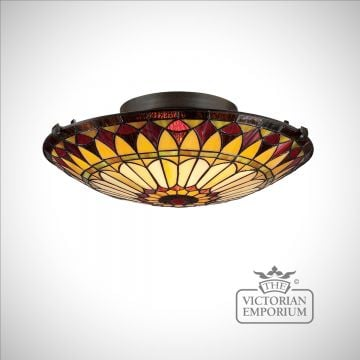Tiffany West End Flush Mount ceiling light