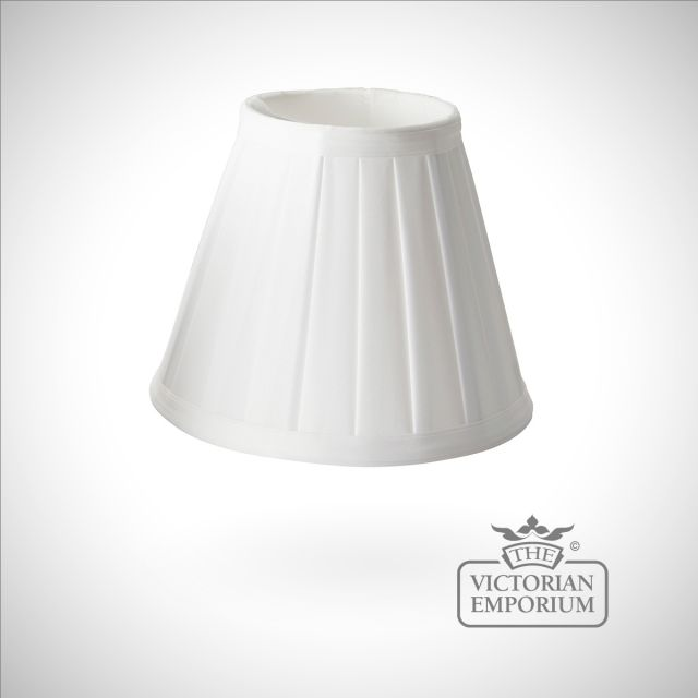 Pleated white clip shade - 15.5cm