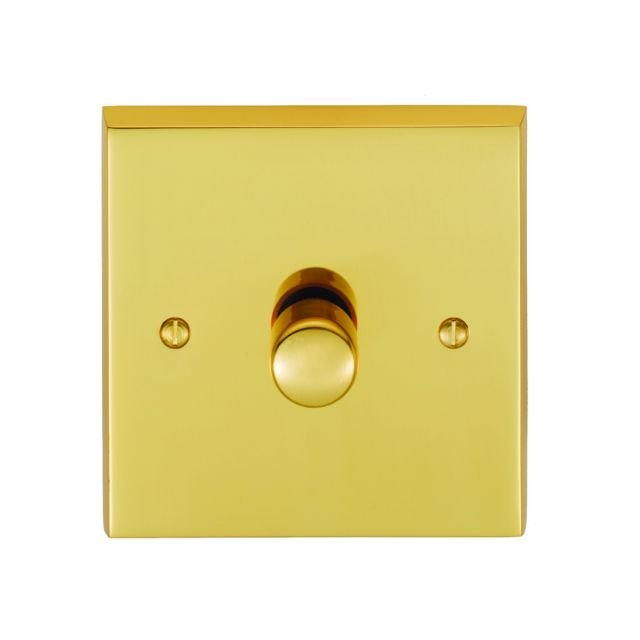 1 Gang 400w Dimmer Switch - Brass, Chrome or Satin chrome