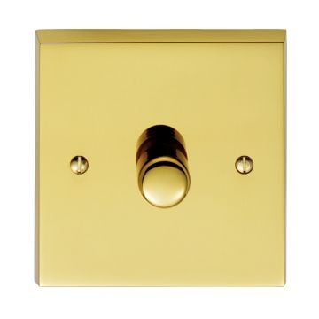 1 Gang 800w Dimmer Switch - brass, chrome or satin chrome