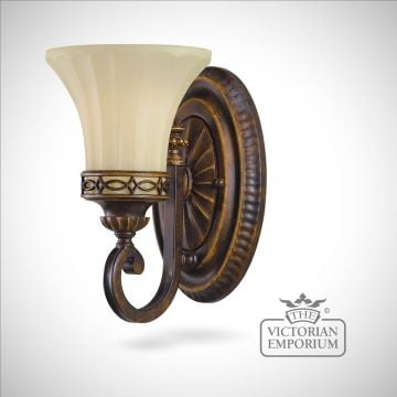 Single wall sconce in Walnut finish