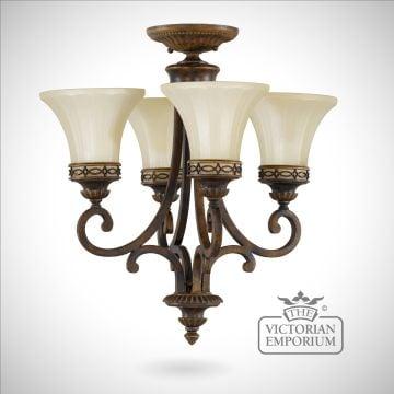 Small walnut chandelier