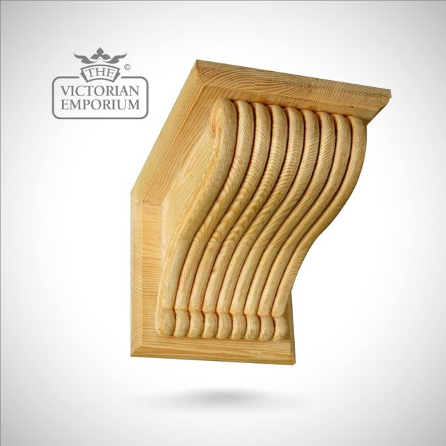 Extra Large Reeded Ceiling Corbel with Capping