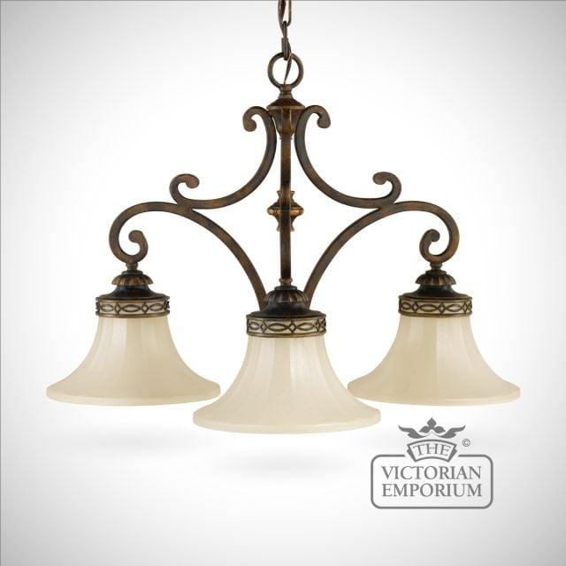 3 shade chandelier