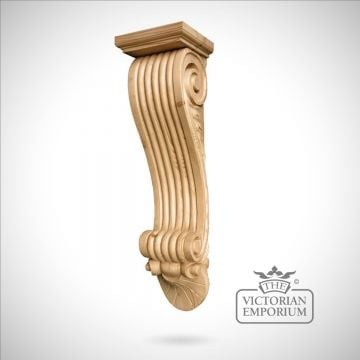 Extra Large Reeded Corbel with Capping