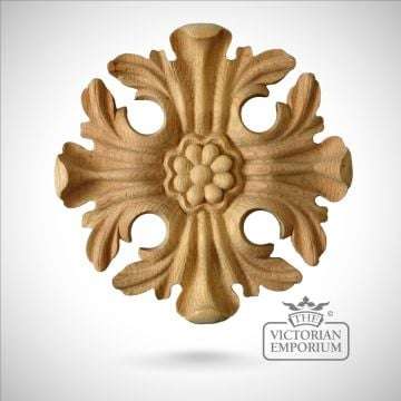 Decorative wooden ceiling rose/circular flower feature