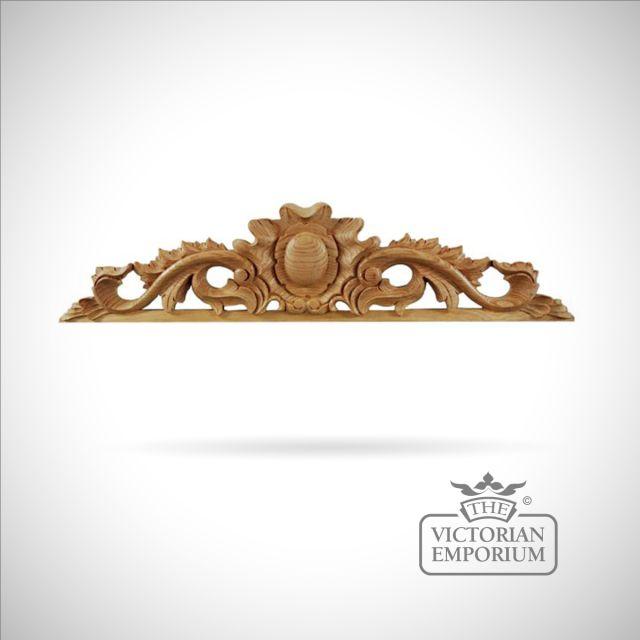 Highly decorative Victorian style pediment - medium