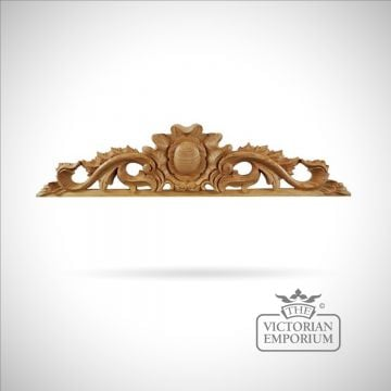 Highly decorative Victorian style pediment - medium