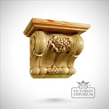 Extra Wide Corbel feature Grape Design