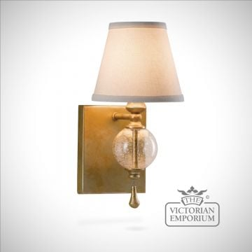 Glass globe wall sconce