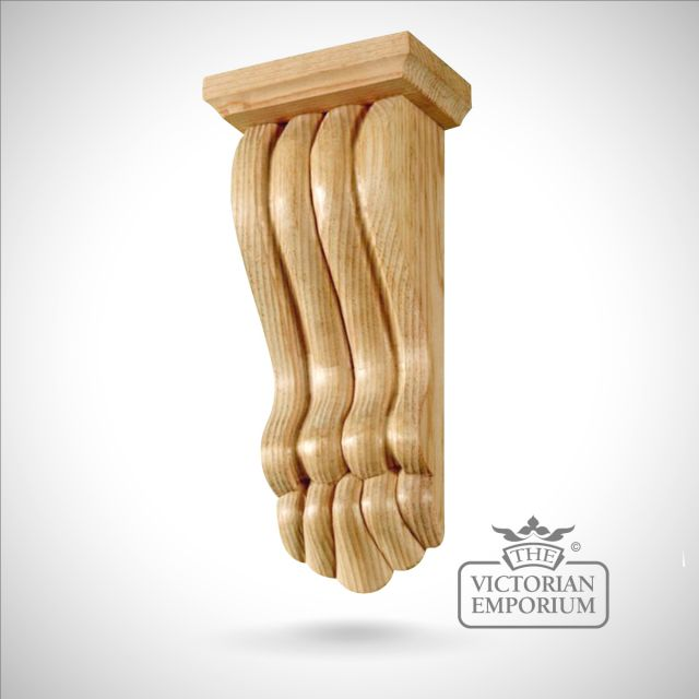 Medium Victorian Reeded Fireplace Corbel with Capping