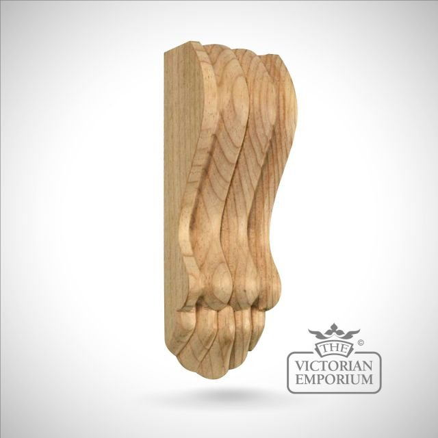 Small Narrow Victorian Reeded Fireplace Corbel