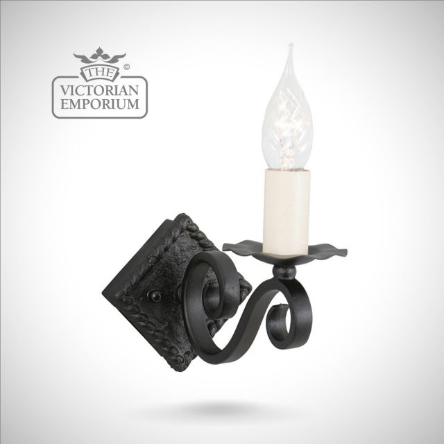 Rectory single wall sconce with diamond shaped fitting