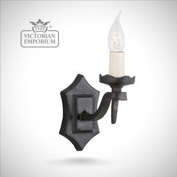 Rectory single wall sconce with scallopped fitting