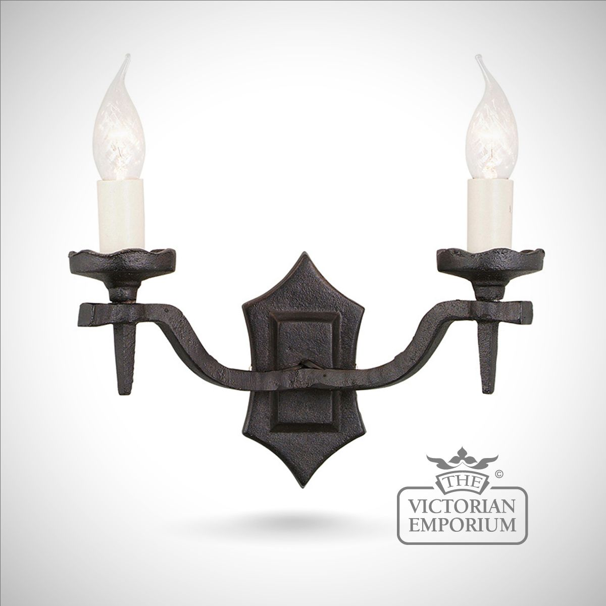 Rectory Double Wall Sconce With Scallopped Fitting