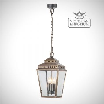 Mansion house ceiling lantern - aged brass